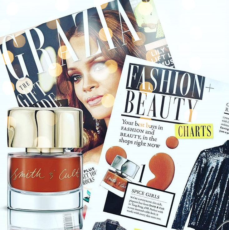 Лаки Smith and Cult Tang Bang в Grazia UK